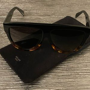 Celine Flat Top Pilot Sunglasses